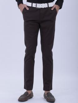 ขาเดฟ ผ้าซาตินยืด สีน้ำตาลมืด - Dark Brown