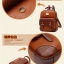 พร้อมส่ง กระเป๋าเป้ กระเป๋าสะพายหลัง แบรนด์Beibaobao รุ่น b201433 (ดำ,น้ำตาล,น้ำตาลเข้ม,ครีม) thumbnail 18