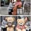 ตุ๊กตาหมีตัวอ้วน เสื้อลาย ขนาด 1 m.