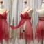 ชุดนอนซีทรู สายเดี่ยว สีแดง แหวกรอบตัว thumbnail 5