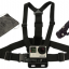 HSU Camera Chest Strap Harness Mounts with 3-way Adjustment Base & Bag