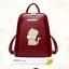 พร้อมส่ง กระเป๋าเป้ กระเป๋าสะพายหลัง แบรนด์Beibaobao รุ่น B142 (สีดำ สีแดง) thumbnail 2