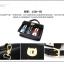 พร้อมส่ง กระเป๋าถือ กระเป๋าสะพายข้าง แบรนด์Beibaobao รุ่น b735 (ดำ ชมพู ครีม เงิน) thumbnail 19