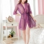 เสื้อคลุม/ชุดนอนผ้าซีทรู สีม่วง ลูกไม้ปลายแขน thumbnail 1