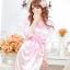 เสื้อคลุม/ชุดนอนผ้าซาติน สีชมพู ลูกไม้ปลายแขน thumbnail 1