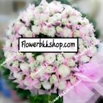 พวงหรีดดอกไม้สด รหัส WWR15