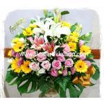 กระเช้าดอกไม้สด รหัส WBA13