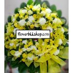 พวงหรีดดอกไม้สด รหัส WWR25