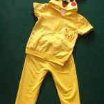 ชุดปิกาจู 2 ชิ้น เสื้อ+กางเกง ผ้าเด้ง แพค 5 ชุด ขนาด 90-130