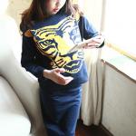 ชุดเซทเสื้อkenzo+กระโปรง *สีกรม* งานสวย แพค 5 ชุด ขนาด100-140 *พร้อมส่ง*