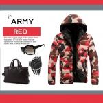 เสื้อกันหนาว ARMY : ลายทหารแดง เท่ๆ ใส่แล้วหล่อเลย