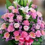 กระเช้าดอกไม้สด รหัส WBA03