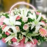 กระเช้าดอกไม้สด รหัส WBA07