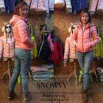 เสื้อกันหนาว SNOWVY : (สีชมพูเข้ม) ทรงขนเป็ดเข้ารูป แขนยาวถึงมือ -15c เอาอยู่