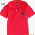 เสื้อยืดPolo สีแดง แพค 4 ตัว ขนาดเด็ก 5-9 ปี