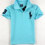 เสื้อยืดPolo สีฟ้าอ่อน แพค 4 ตัว ขนาดเด็ก 5-9 ปี