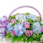 กระเช้าดอกไม้สด รหัส WBA10
