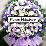 พวงหรีดดอกไม้สด รหัส WWR05