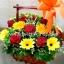 กระเช้าดอกไม้สด รหัส WBA12