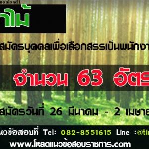กรมป่าไม้ รับสมัครพนักงานราชการ จำนวน 16 ตำแหน่ง 63 อัตรา ประจำปี 2561 วันที่ 26 มีนาคม - 2 เมษายน พ.ศ. 2561