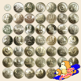 ชุดเหรียญกษาปณ์ที่ระลึก ชนิดราคา 10 บาท (สีเดียว) ครบ 47 วาระ