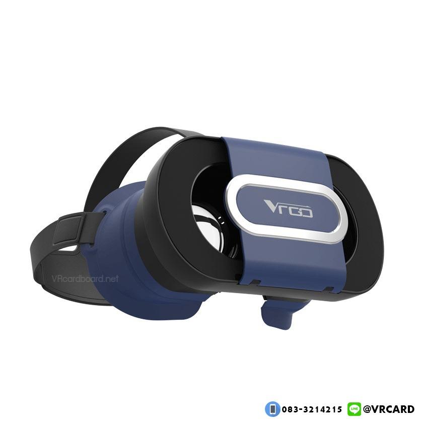 แว่นVR Cardboard รุ่น VRGO ของแท้ รุ่นใหม่ล่าสุด [สีน้ำเงิน Blue-Edition]