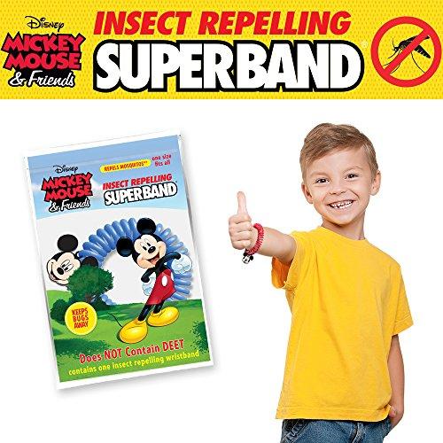 สายรัดกันยุง Insect Repelling Superband ลิขสิทธิ์ Disney [ EVERGREEN ] 4สี