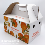 กล่องใส่ส้ม 5 ก.ก. สกรีนลาย