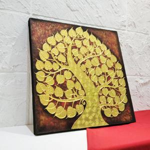 ต้นโพธิ์ทอง ภาพมงคลเสริมฮวงจุ้ยรวยทรัพย์รับโชค